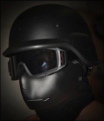 My Airsoft Mask (kenj0103) Tags: black face sport jack mask extreme helmet protection flack swat airsoft gogles