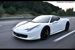 Ferrari 458 Italia *Explored* (JespervdN) Tags: white black dutch yellow nikon highway perfect italia ferrari sickness tracking sportscar maranello 18105 458 d5000 autogespot jespervdn autgesport