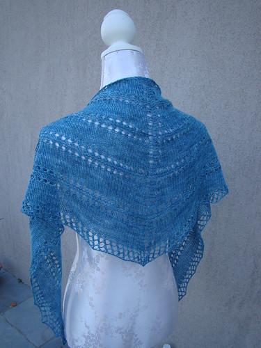 Blue Azzu shawl