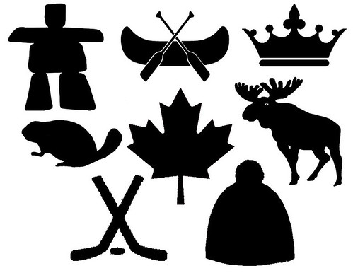 Canadian Symbols Stencils for Pennant Bunting