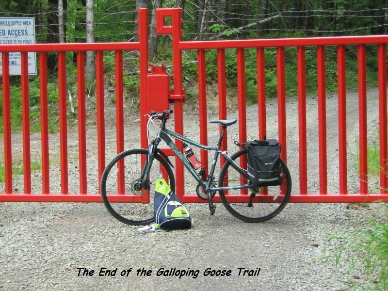 The end of the Galloping Goose Trail