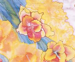 "Iris Lorenz-Fife - Gladioli 40"" x 12"""