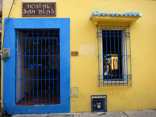 Entrance to Hostal San Blas in Getsemani.