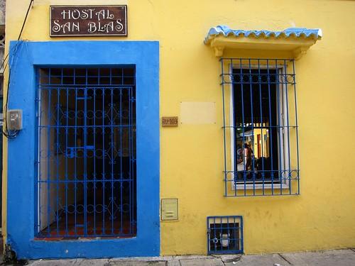 Entrance to Hostal San Blas in Getsemani.