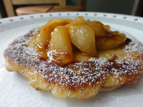 Fritzel's Griddle Cake With Caramelized Pears