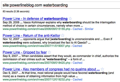 PowerlineBlog.com Defending Waterboarding Torture