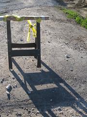 Construction Barrier in the sun (konarheim) Tags: morningsun dailyshoot 2010365 ds228