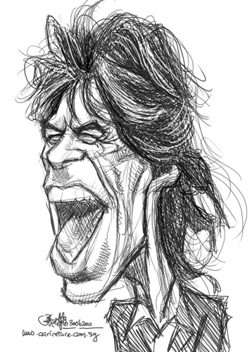 digital sketch study of Mick Jagger - 4 medium