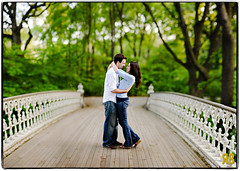 A Bridge Just Right (mian1987) Tags: newyorkcity bridge wedding love smile engagement hug bokeh centralpark noflash d3 85mmf14 ryansstrangelenses bokehpanorama brenizermethod