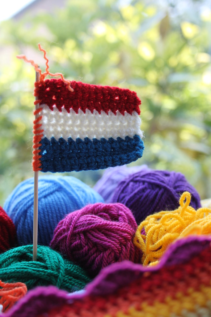 World Cup crochet flag