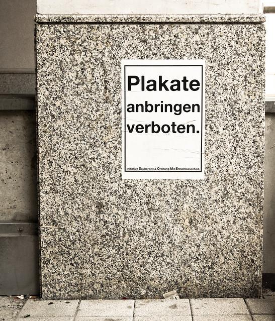 Plakate anbringen verboten. - Initiative Sauberkeit & Ordnung Mit Entschlossenheit