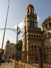 St. Alexander Nevsky Orthodox Church in d (Arkadious) Tags: street city summer urban june walking walk poland polska spacer lodz d miasto ulica miejski uliczna