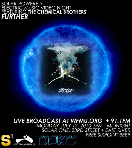 SOLAR-POWERED ELECTRIC MUSIC VIDEO NIGHT FEATURING THE CHEMICAL BROTHERS' FURTHER