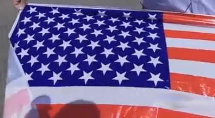 61 stars American flag
