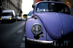 beetle (koitalow) Tags: paris film car vw analog zeiss volkswagen 50mm nikon kodak beetle f3 planar carlzeiss filmdeveloper flickraward ektar100