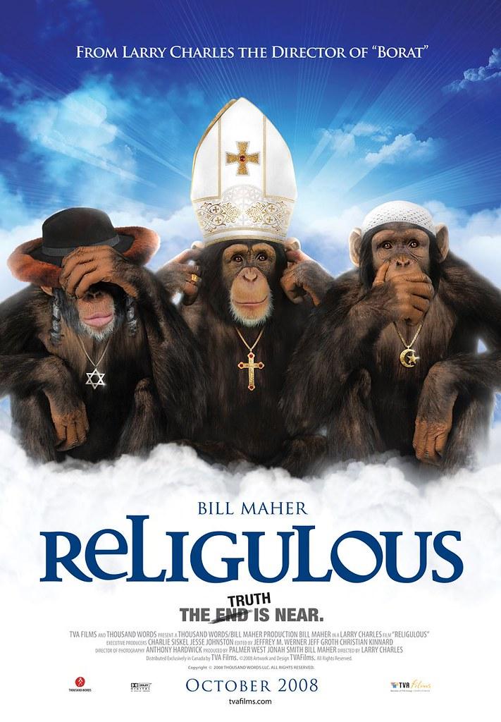 Religulous poster con monos
