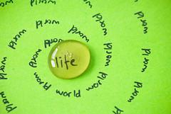 Life in a Bubble (On the mountain at dawn) Tags: life mountain macro reflection green art spiral fun dawn nikon poem honey bubble conceptual d3000