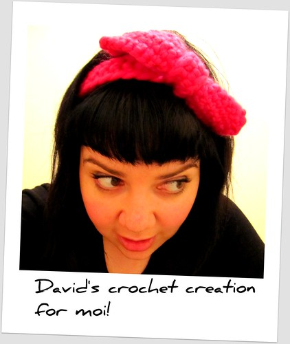 Crochet bow by David.