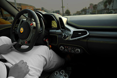 Ferrari 458 Italia | black & yellow interior [Explored] (Tareq Abuhajjaj | Photography & Design) Tags: red black yellow speed design cool nikon italia top interior air fast gear 360 f1 ferrari saudi rims riyadh ggg 2010 ksa 070 458 tareq  24120mm     d700 foilacar tareqdesigncom tareqmoon tareqdesign   adjustabledampersmanettinotractioncontroldialfallhandselectionswitchgearsatnav stereoandairconcontrolsintergrateddasharchitecture