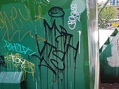 Myth VTS (burlington24) Tags: seattle dumpster graffiti university district tags enter myth tak