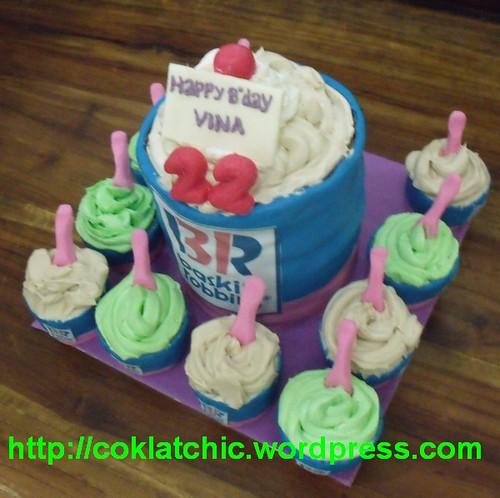 Cake And Cup Cake Baskin Robins Vina Jual Kue Ulang Tahun