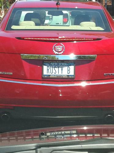 Rusty B License Plate