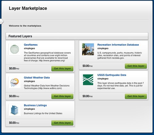 SimpleGeo Layer Marketplace
