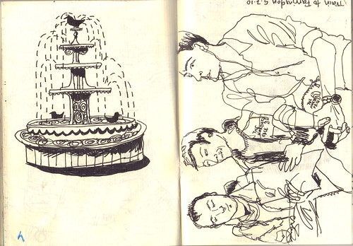 fountain-and-passengers