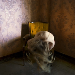 the effects of an open window (brookeshaden) Tags: old blur abandoned window girl vintage hospital nude chair shadows vibrant linda vista brookeshaden