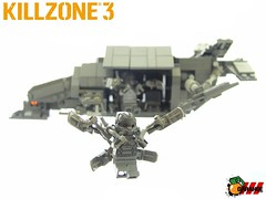 HGH Jetpack-Trooper and Dropship (ORRANGE.) Tags: 3 trooper lego orrange jetpack helghast killzone dropship