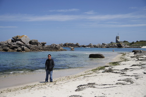 Me at a Brignogan beach