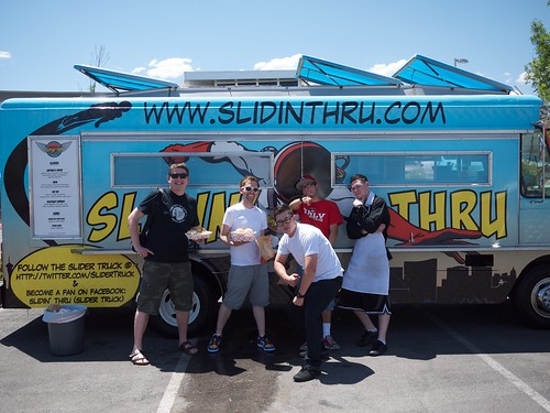 Me, @robpooke and the gang from @slidertruck