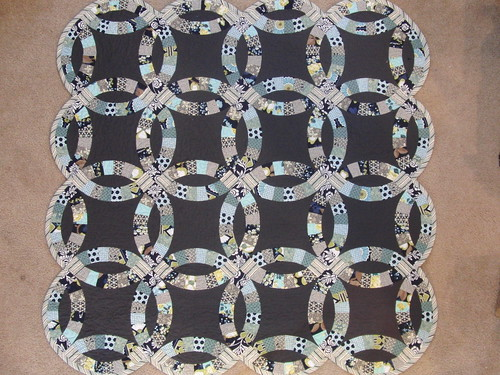 Finished Double Wedding Ring Quilt (Front) - Modern Meadow & Hope Valley by theplaidscottie
