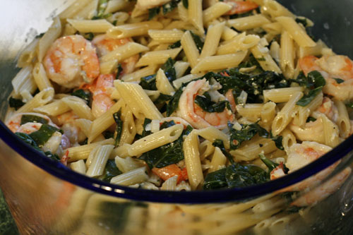 ... flavorful goodness in this Creamy Gorgonzola and Shrimp Pasta recipe