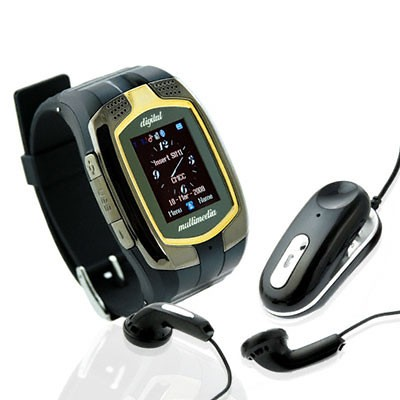 The First Dual SIM Watch Mobile Phone M860 Quad Band