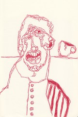 red red wine (battarox) Tags: red portrait man cup face drawing picture uomo figure rosso ritratto disegno viso tazza faccia figura