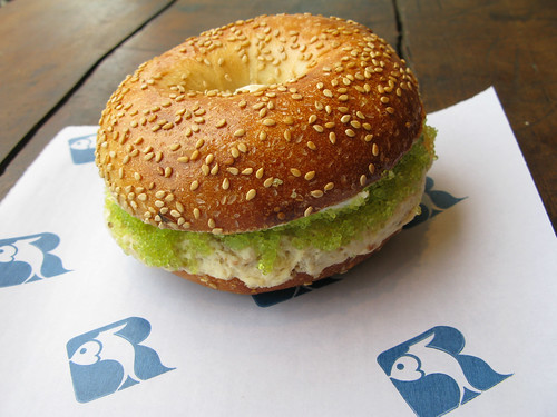 Russ & Daughters Super Heebster sandwich