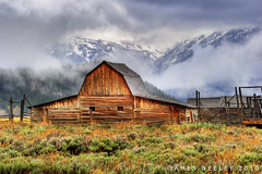 Moulton Barn On A Rainy Day (James Neeley) Tags: landscape wyoming tetons hdr grandtetonnationalpark gtnp mormonrow 5xp moultonbarn jamesneeley