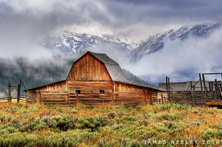 Moulton Barn On A Rainy Day