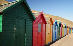 Beach Hut Heaven (Paul 'Tuna' Turner) Tags: greatbritain travel vacation england holiday beach coast europe colours unitedkingdom britain yorkshire eu coastal whitby colourful seafront beachhuts europeanunion northyorkshire chalets thenorth northernengland northseacoast northyorkshirecoast