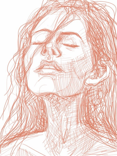 digital sketch studies of Megan Fox 2a on iPad SketchBook Pro