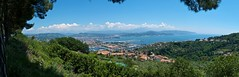 The harbour at La Spezia (Geoff Main) Tags: sea italy panorama coast harbour australia canberra act laspezia liguriancoast lumixdmclx3