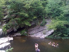 John Jumping into Cheaha Creek