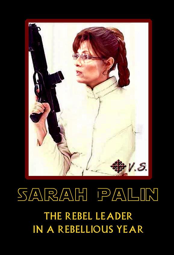 Sarah Palin Star Wars Leia-Rebellious Year