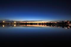 Albert Park Lake at dusk (kth517) Tags: sunset reflection dusk melbourne victoria albertpark 澳洲 墨爾本 albertparklake 黃昏 melbournef1