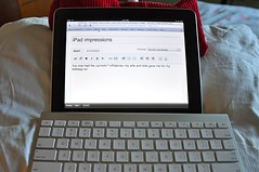 iPad and Apple Bluetooth Keyboard