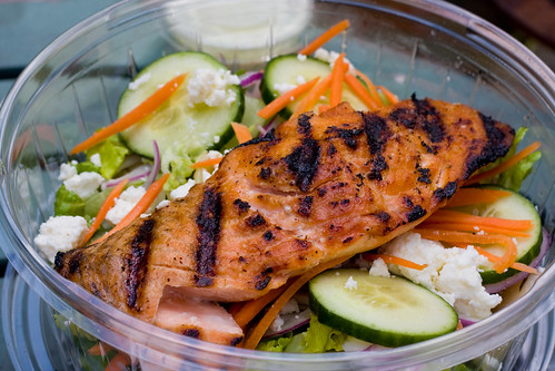 Grilled salmon salad, Friedman's Lunch
