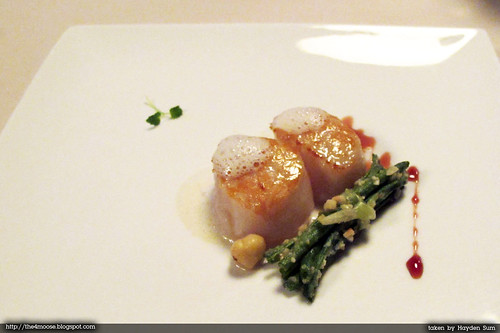 Forlino - Pan Roasted King Scallops with French Beans and Hazelnuts