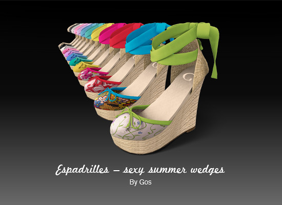 Espadrilles – sexy summer wedges
