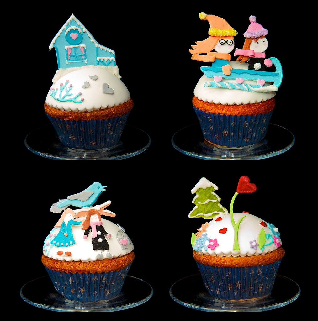 Winter Cupcake Wedding Cakes